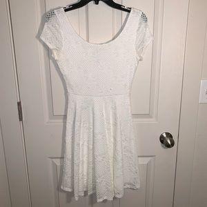 Soprano White Lace Skater Dress